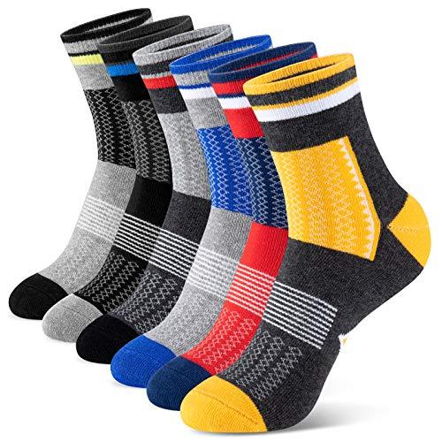 Newdora Socken Herren Damen Unisex Sneaker Socken Baumwoll Trekkingsocken Atmungsaktiv Socken Hochleistung für Fitness,Joggen und Zuhause (43-46)