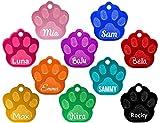 Hundemarke Pfote mit Gravur