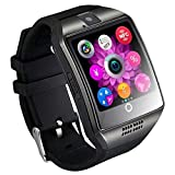 Q18 reloj inteligente Smartwatch Bluetooth a prueba de sudor teléfono con cámara TF / ranura para tarjeta SIM para Android y iPhone teléfonos inteligentes para niños niñas niños hombres mujeres Ropa d