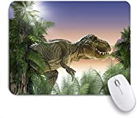 Mabby ゲームオフィスのマウスパッド,dinosaur in the jungle,Non-Slip Rubber Base Mousepad for Laptop Computer PC Office,Cute Design Desk Accessories