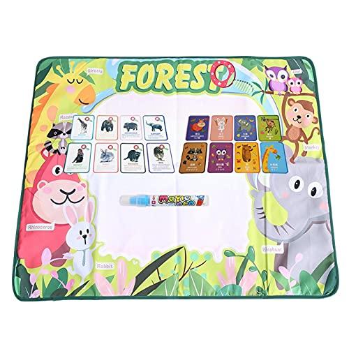 Tomanbery Tappetino per Pittura in Tessuto Non Tessuto in Tela Doodle colorato per Bambini con Una Penna per l'educazione della Prima Infanzia
