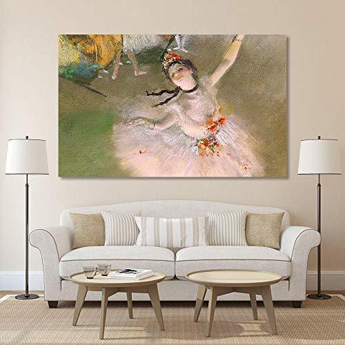 QLCUY Impresión De La Lona Arte De La Lona Edgar Degas Bailarina Bailarina Pared Clásica Cuadros para Sala De Estar Decoración del Hogar Pintura Impresa