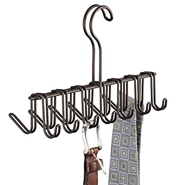 InterDesign Classico Vertical Closet Organizer Rack for Ties, Belts - Bronze