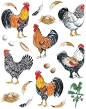 IdeaStix Pretty Boy Roosters 2-Sheet Accents Peel and Stick Décor