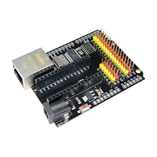 diymore ENC28J60 Ethernet Abschirmung V2.0 LAN Netzwerk Modul I/O SPI 51 AVR Pic LPC STM32 für Arduino UNO R3 CH340G Nano V3.0