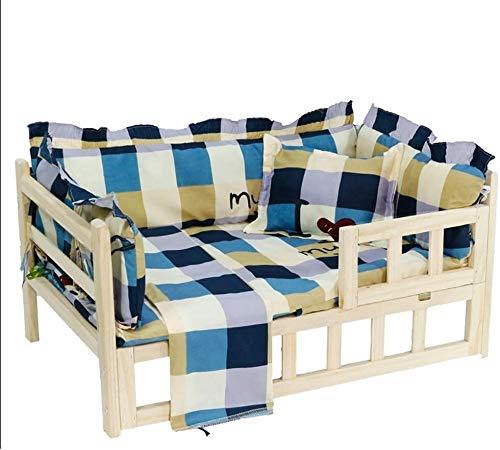 UIZSDIUZ Haustierbett Hundebett Haustier-Bett-Katzen-Bett Massivholz, Naturumweltschutz Warm, Katzenbett (Color : Style1, Size : XL(115×60×40cm))