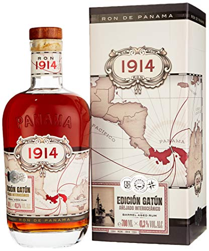 Ron 1914 Panama EDICIÓN GATÚN Barrel Aged Rum mit Geschenkverpackung (1 x 0.7 l)