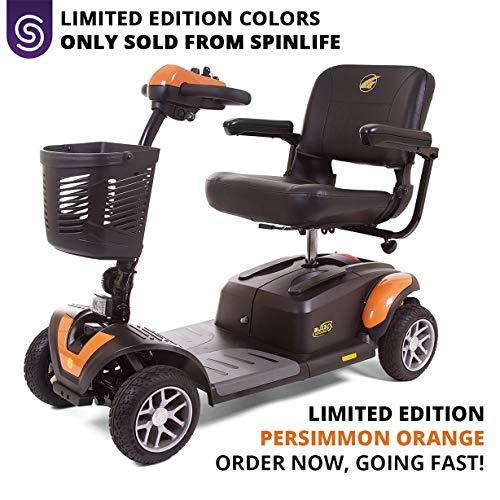 Best Price! BUZZAROUND EX 4-Wheel Heavy Duty Long Range Travel Scooter Orange, 18-Inch Seat