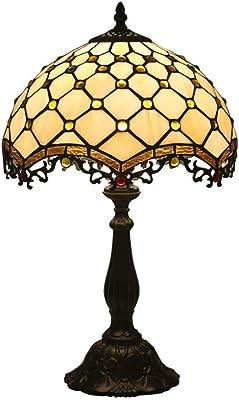 Estilo de Tiffany lámpara de escritorio, hecho a mano amarillo del ...
