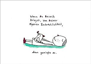 """Postkarte Besinnliches /""""Karins kleiner Entspannungsratgeber Nr 1 Scissor .../"""""""