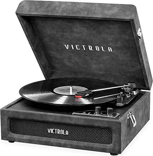 Victrola VSC-590BT-LGR Bluetooth Portable Turntable (Lambskin Grey)