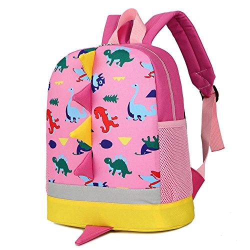 Mochila Infantil Dinosaurio Kindergarten - Rabo Color Azar - Pequeñas Mochilas Bolsas Escolares de Dibujos Animados Animales Mochilas Escolares Niña Niños