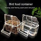 MISS YOU Mangeoire pour Les Oiseaux Boîte Alimentaire Perroquet Anti-Spray et Oiseau protégé Contre Les éclaboussures d'alimentation Automatique de l'eau Fontaine d'alimentation de Pigeon