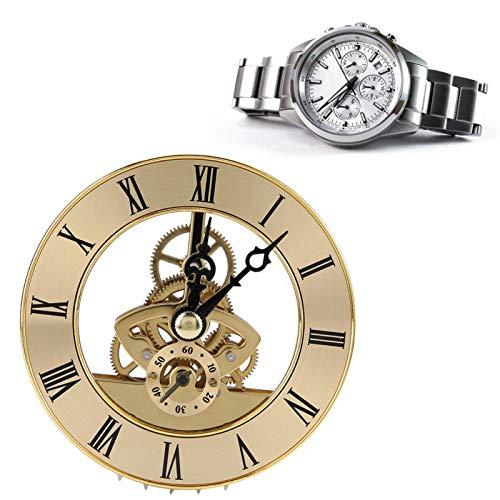 Lente de plástico transparente Perspectiva de gama alta duradera Hora Números romanos negros Inserto de reloj de cuarzo para trabajadores de reparación de relojes para fabricantes de relojes