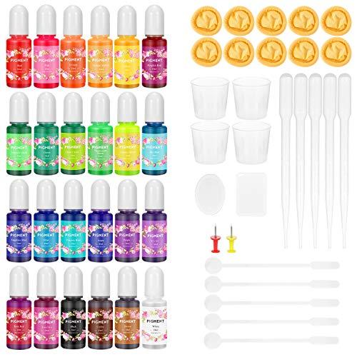 Buluri Pigmento de resina UV epoxi 24 Colores ,resina epoxi y UV...