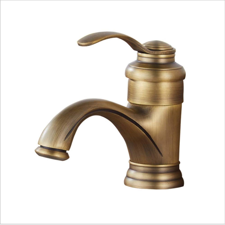 BadinsGrößetionen Waschtischarmaturen Küchenarmaturen All-Kupfer Antike Kurze Teekanne Waschbecken Wasserhahn Heies Und Kaltes Wasser