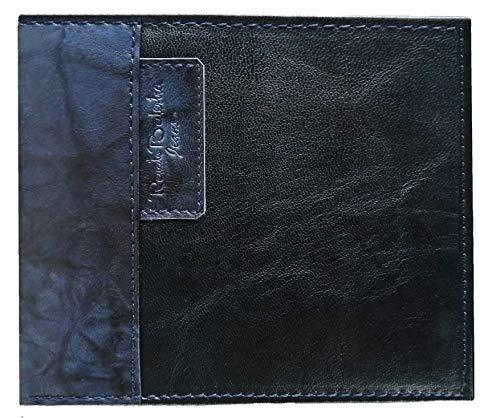 RENATO BALESTRA Portafoglio uomo ,Sottile,uomo,piccolo sottile rfid,regalo,portafoglio con portamonete,sottile,Porta banconote,portafoglio ragazzo (Blu)