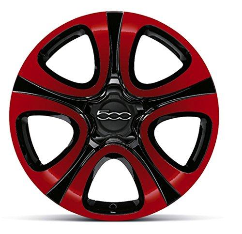 Llantas de aleación para Fiat 500X de 18 pulgadas, bicolor, rojo/negro