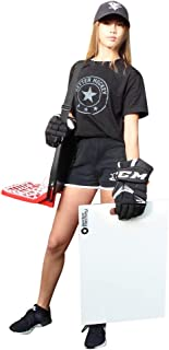 Better Hockey Extreme Sauce Combo Single - Backyard Games - Training Aid for Saucer Passing - Trick Shot Kit - Mini Goal Holds up to 40 Pucks - Shooting Pad Simulates The Feel of Real Ice