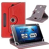 AKNICI 360 Grad Drehung 7 Zoll Universal Tablet Hülle für ALLDOCUBE iPlay 7T 6.98,Yuntab Y88/Q88/E706,Haehne 7,JINYJIA 7,Dragon Touch 7,G-Anica 7,Winnovo T7,Galaxy Tab 7,Lenovo Tab E7/TB-7104I/1TB,Rot