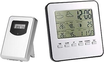 YILONG Inalámbrica de Interior al Aire Libre Termómetro Estación meteorológica Higrómetro Digital Despertador LCD de la Alarma del Calendario