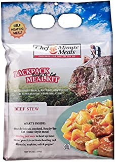 Chef 5 Minute Meals Beef Stew Self-Heating Meal Kit-Backpack