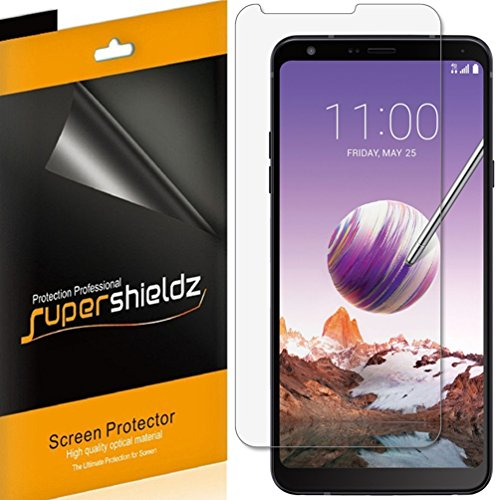 (6 Pack) Supershieldz for LG (Stylo 4) Screen Protector, High Definition Clear Shield (PET)