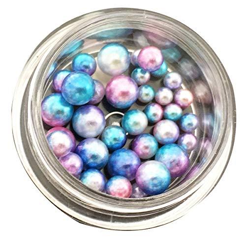 Moligh doll Coton Ongles Perles Paillettes Paillettes éBlouissante Manucure Nail Art DéCoration-Bleu Changement Progressif