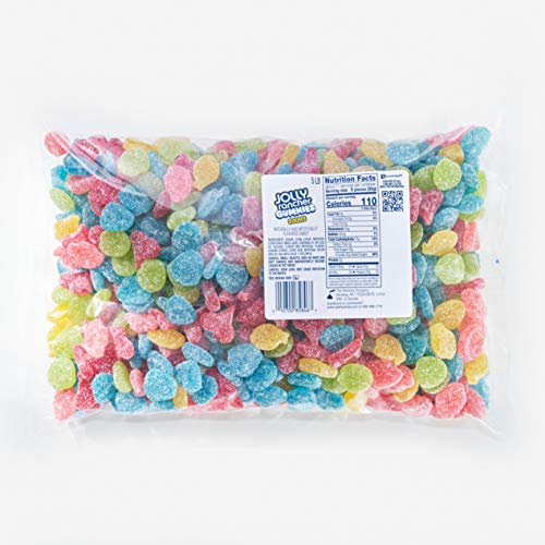 Jolly Rancher Gummies Sours Fruit Flavor Bulk Candy, 5 Lb