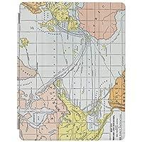 RECASO 地図:大西洋 旅行 iPad Pro 11 ケース 2020 軽量 薄型 三つ折スタンド オートスリープ機能付き 全面保護 iPad Pro 11第二世代カバー