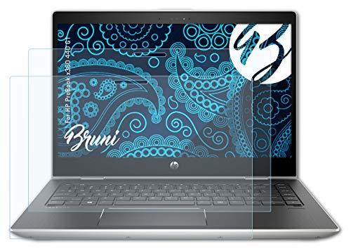 Bruni Schutzfolie kompatibel mit HP ProBook x360 440 G1 Folie, glasklare Bildschirmschutzfolie (2X)