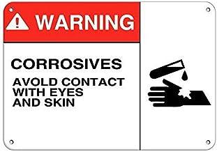 Not Warning Corrosives Evitar el contacto con los ojos, hierro pintado, letrero decorativo de pared, placa de advertencia, marea decorativa para habitación, cafetería, bar, club, jardín