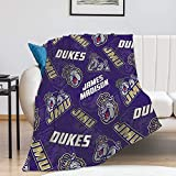 James Madison Fleece Blanket, University Warm Ultra-Soft Throw Blanket, Fashion Home Decoration Blanket 50'×60'