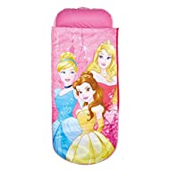 2 in 1 Disney Princess airbed and sleeping bag from ReadyBed. With pump and handy carry bag included you'll go from bag to bed in minutes. Cosy, machine washable cover means you can keep the air bed cover and sleeping bag snuggly, clean and fresh. Id...