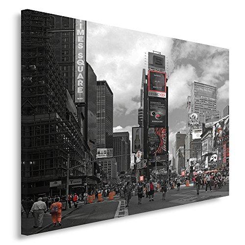 Feeby Frames, Cuadro en lienzo, Cuadro impresión, Cuadro decoración, Canvas 40x60 cm, CIUDAD, NUEVA YORK, CALLE, RASCACIELOS, UN COLOR, NEGRO Y BLANCO