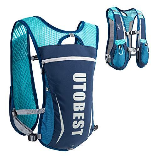 UTOBEST Hydration Pack Backpack Lightweight Hydration Vest for Women Men Trail Running 5L Blue