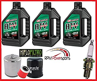 RPM for Yamaha Grizzly 660 Tune Up Kit NGK Spark Plug Oil Change & Filter YFM660 02/06