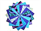 "40 5"" Twilight/shades of Purple and Blue Charm Pack-10 different patterns/colors-4 of each"