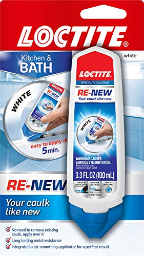 Loctite 2175704 RE-NEW Specialty Silicone Sealant 3.3 fl. Oz. Squeeze Tube, Single, White