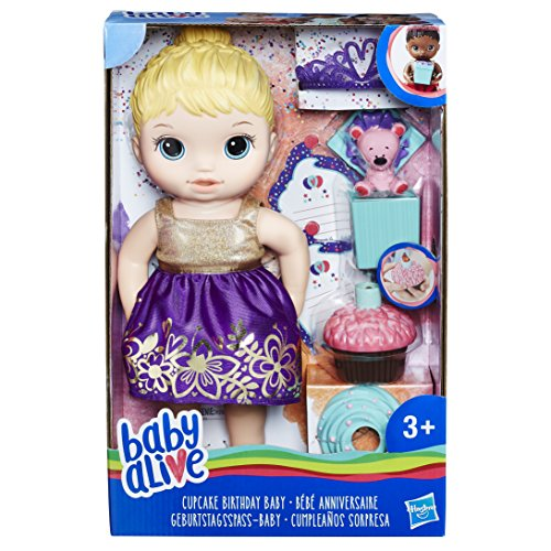 Hasbro Baby Alive E0596ES1 Birthday – Fun Baby Doll