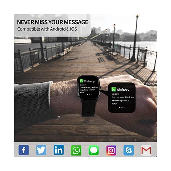 Smartwatch Mujer,Relojes Inteligentes Hombre para Android,Pulsera Actividad Inteligente de 1.3 Pulgada con Monitor de… 8