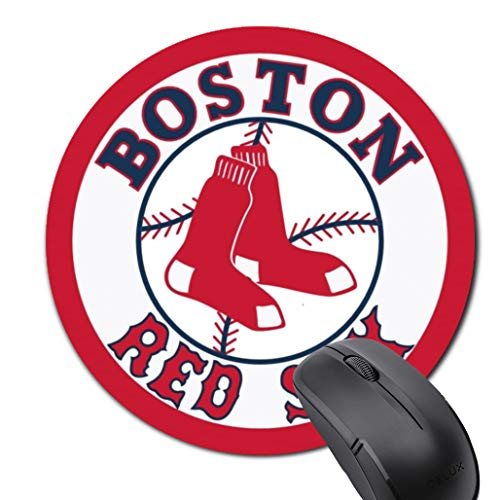 Boston Baseball Mouse Pad, Life Needs Sport Round Mouse Pad, Non-Slip Rubber Gaming Mousepad, Fans Gift Mouse Mat
