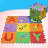 Alfombra para Piso de niños Número inglés Alfombra de rastreo EVA Jigsaw Puzzle Alfombrillas para Costura de Alfabeto inglés 10 Piezas/Equipo, 30 * 30 * 1cm (Color : English Alphabet)