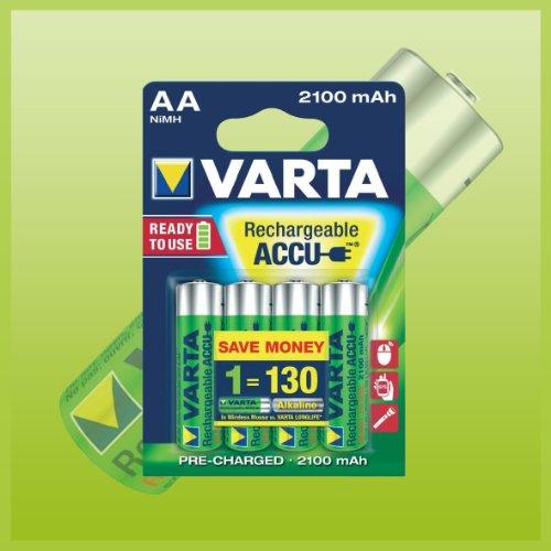 8x Varta Power Accu ready2use NiMH Akku AA Mignon 2100 mAh 56706 - 8er Sparpaket