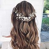 accessori per capelli da sposa con strass fascia per capelli da sposa in cristallo mayelia crystal per capelli da sposa per donne e ragazze