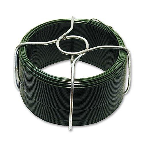 Alambre plastificado 1.6 mm / 250 gr / 32m Acero galvanizado bobina