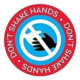 No estreche las manos, prohíba la señal de apretón de manos,Pegatinas Distancia de Seguridad,Calcomanías De Piso De Distancia Social para Metro, estación de autobuses y Supermercado