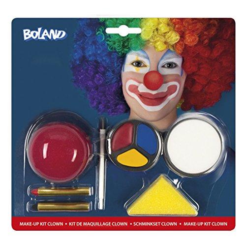 erdbeerloft - Kostüm Schminkset Clown, Mehrfarbig