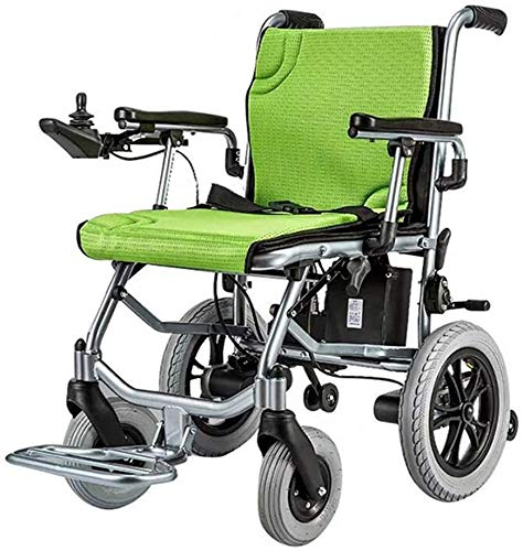 Aluminum Electric Lightweight Wheelchair, Foldable Mobile Footrest, with Dual Control, Can Be Opened In 1 Second, for Elderly Scooter,