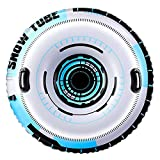 Delxo Snow Tube, 2020 Upgrade 47' Inflatable Snow Sled for Kids and Adults, 0.65mm Thicken Material 2-Layer Bottom Heavy Duty Inflatable Snow Tube for Sledding Best Winter Toys Gift Grey